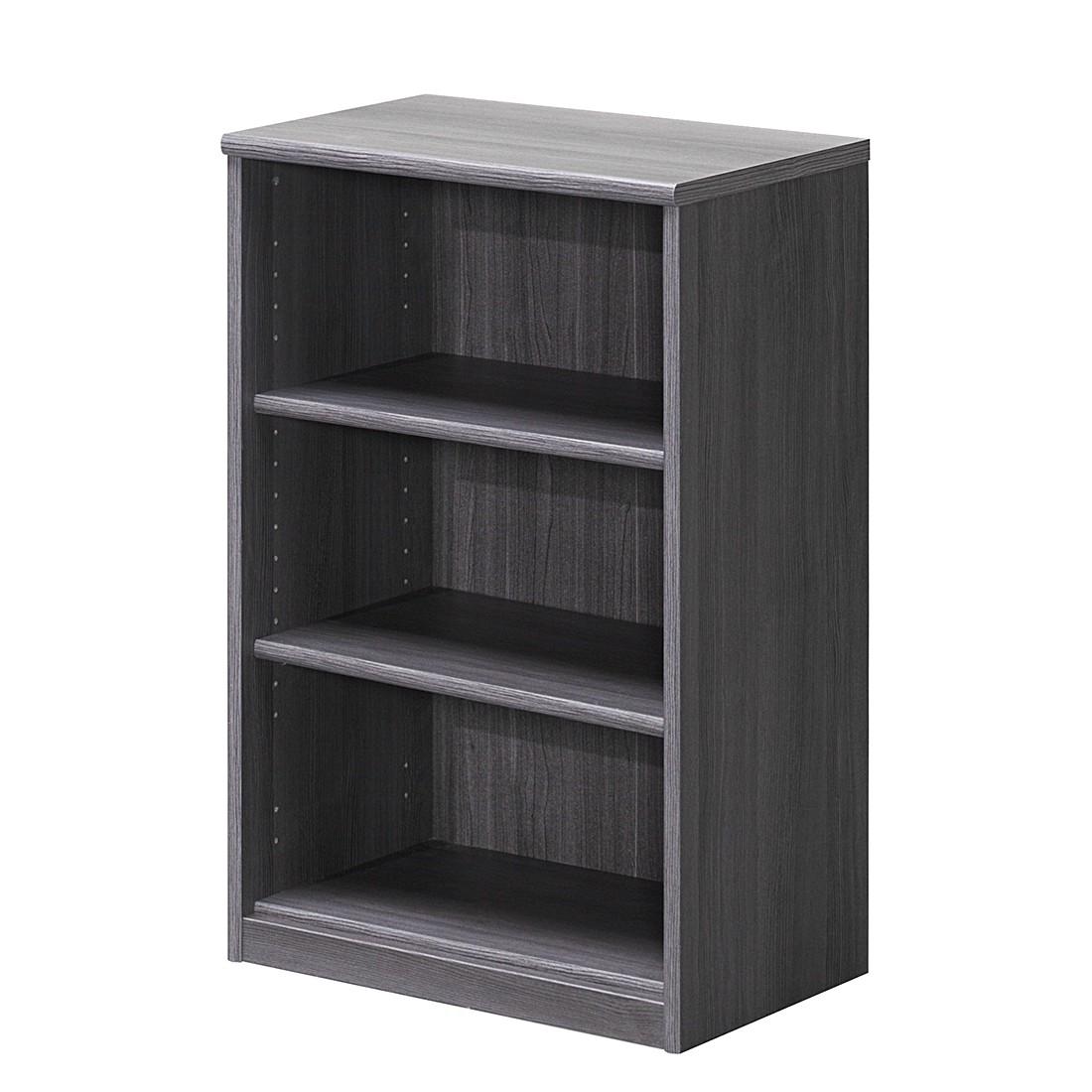 Scaffale Soft Plus I - Effetto quercia grigio argento - Scomparti: 3 - Altezza: 84 cm, Cs Schmal
