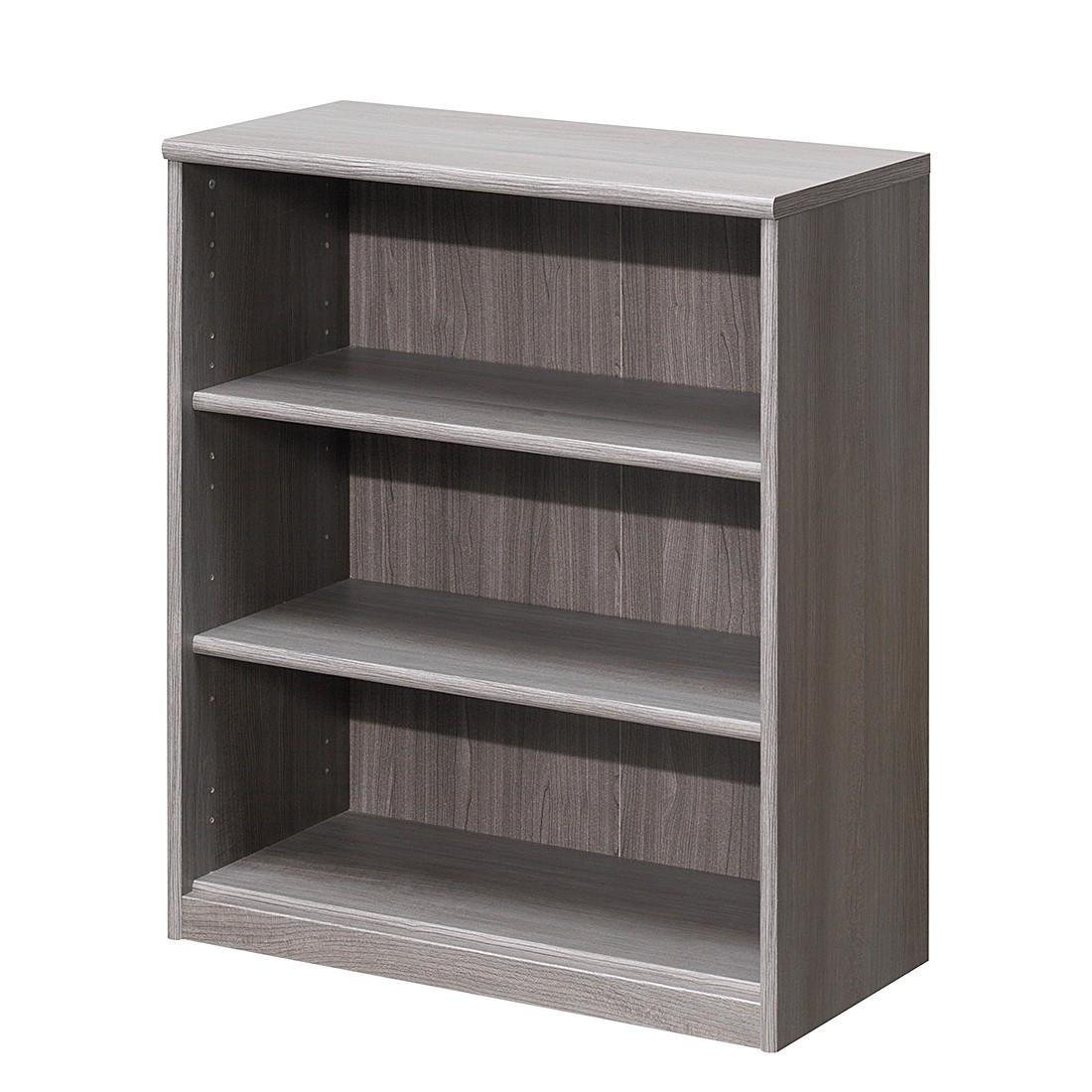 Scaffale Soft Plus II - Effetto quercia grigio argento - Scomparti: 3 - Altezza: 84 cm, Cs Schmal