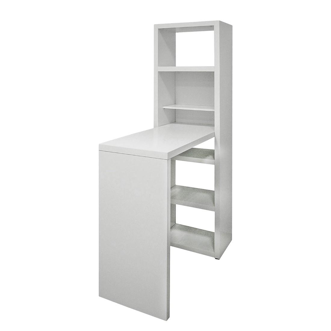 Regal-Tischkombination Lokeren - Weiß, Fredriks