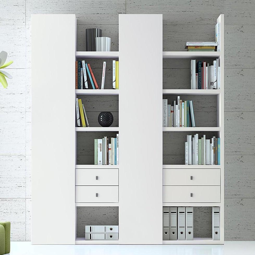Bücherregal weiß modern  loftscape Bücherregal – für ein modernes Heim   Home24