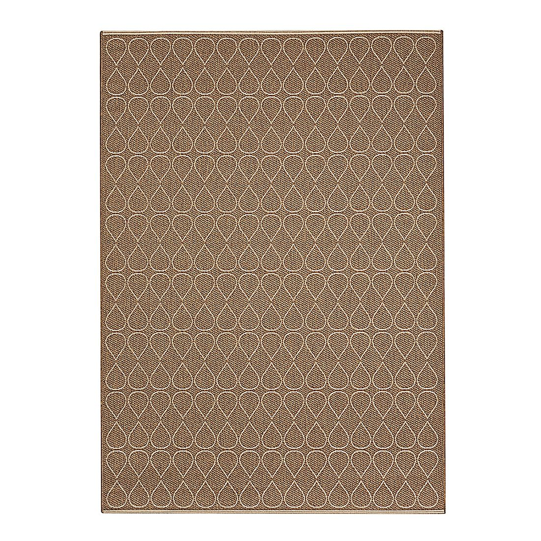 Home 24 - Tapis facet - couleur lin - dimensions: 133 x 190cm, raffi