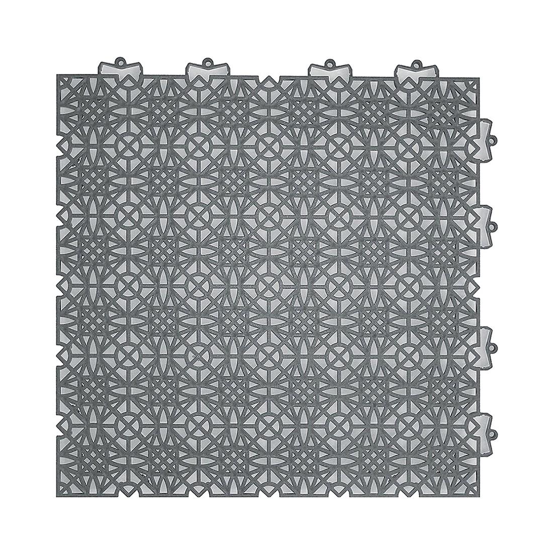 Image of Pavimento drenante sopraelevato in materiale sintetico Terra Sol - Grigio scuro per esterni, andiamo