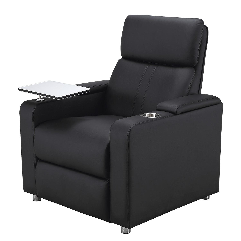 Relaxfauteuil Aldra - kunstleer - zwart, Nuovoform