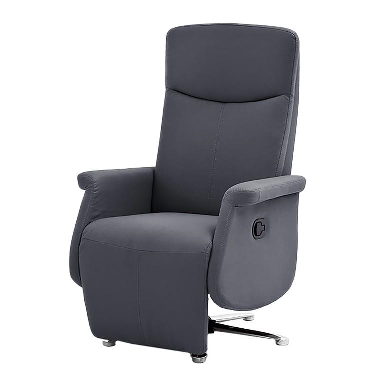 Home 24 - Fauteuil de relaxation copperville - imitation cuir - gris foncé, bellinzona