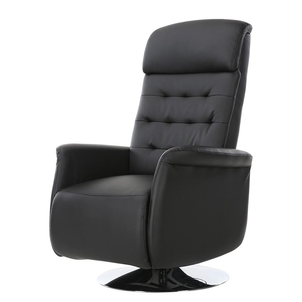 Fauteuil de relaxation Fleet - Imitation cuir - Noir, mooved