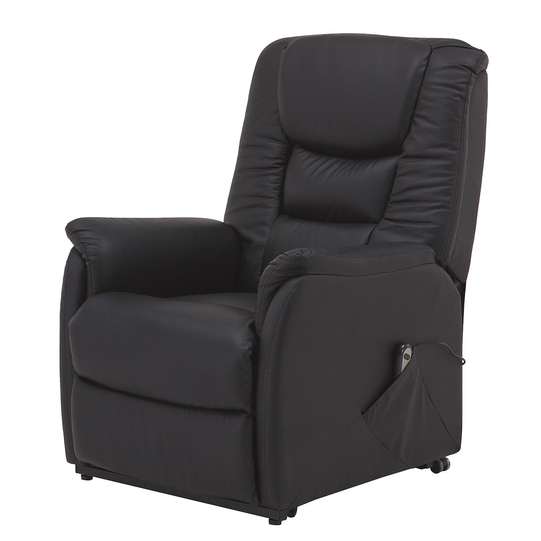 Fauteuil de relaxation Knuckey (avec aide au relevage) - Imitation cuir - Noir, Nuovoform