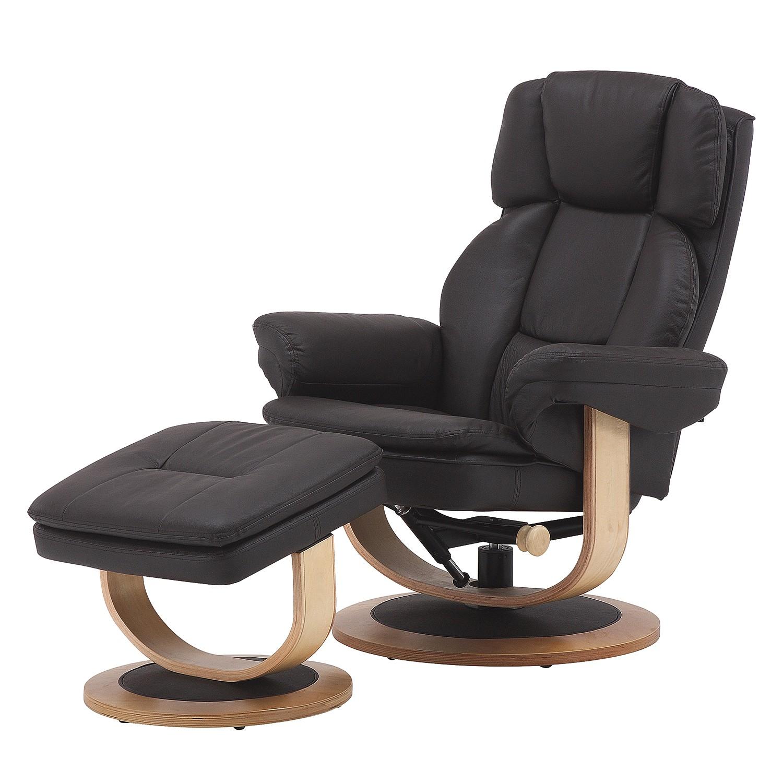Fauteuil de relaxation Protem (avec repose-pieds) - Imitation cuir - Marron, Nuovoform