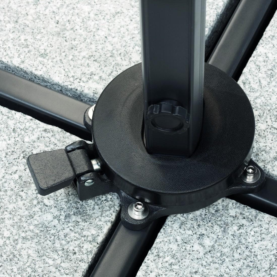 ampelschirm rhodos (3x3m) - aluminium/polyester | home24, Badezimmer ideen