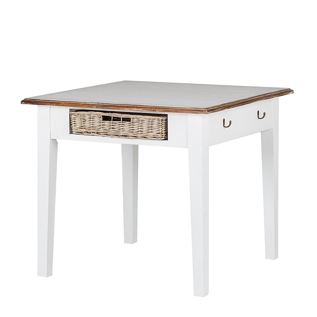 Table à manger Rieux - Corbeilles en rotin - 90 x 90 cm, Maison Belfort