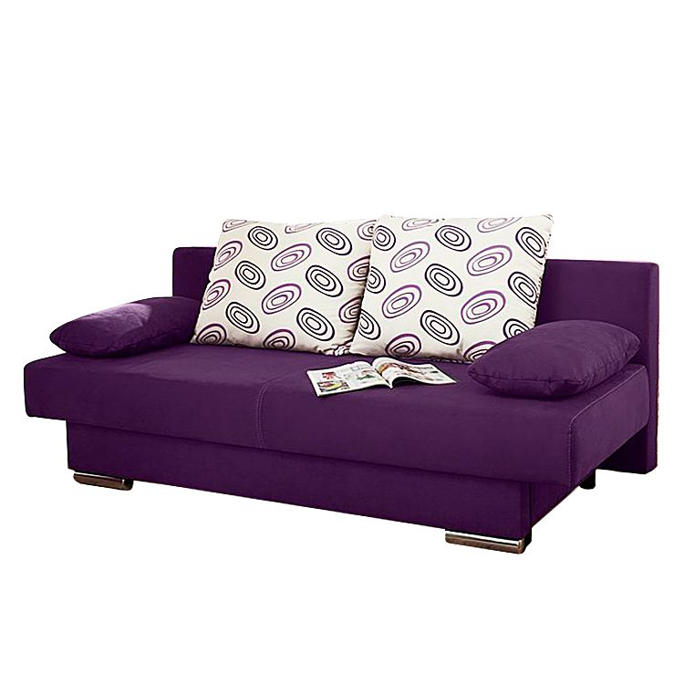 Canapé convertible Rijeka - Microfibre violette, mooved