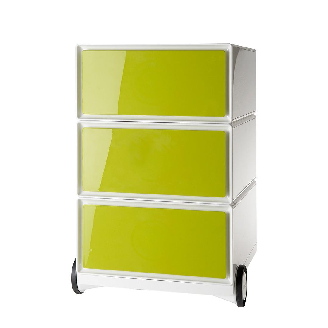 Rollende kast easyBox I - Wit/groen, easy Office und Paperflow