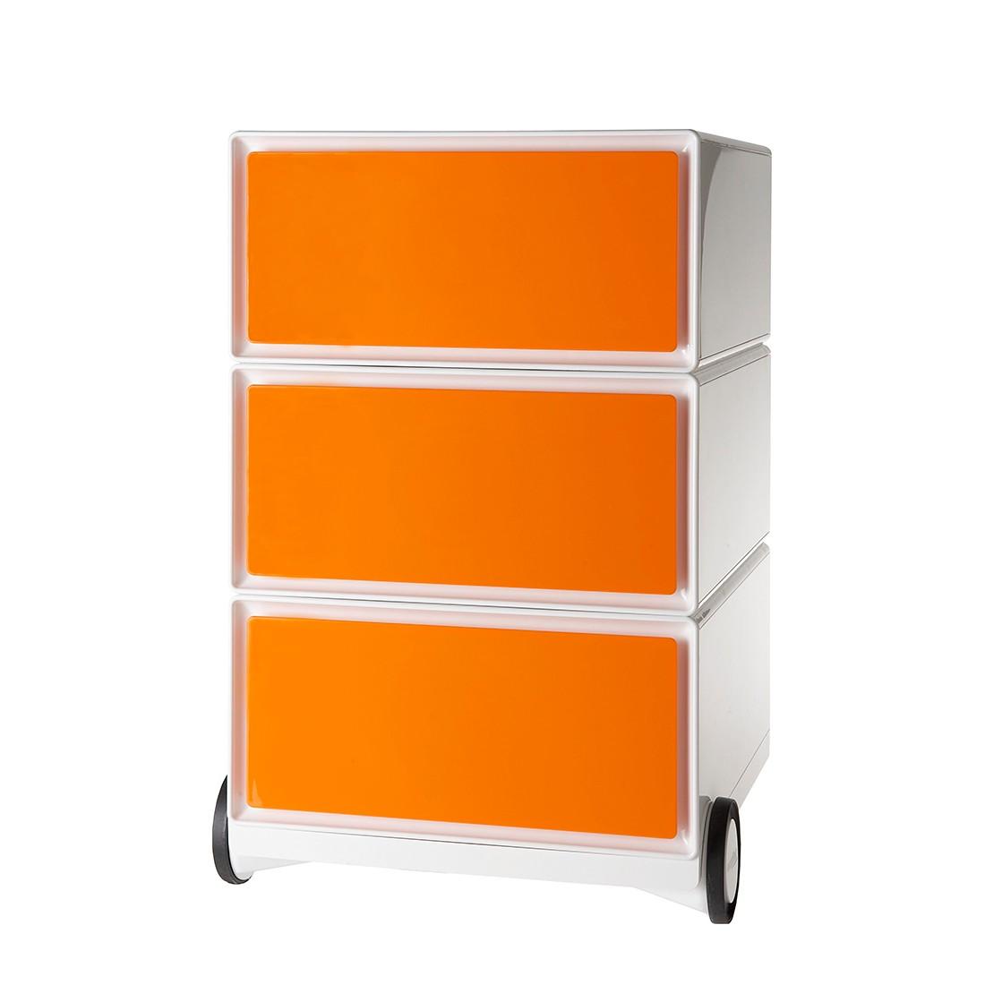 Rollende kast easyBox I - Wit/oranje, easy Office und Paperflow