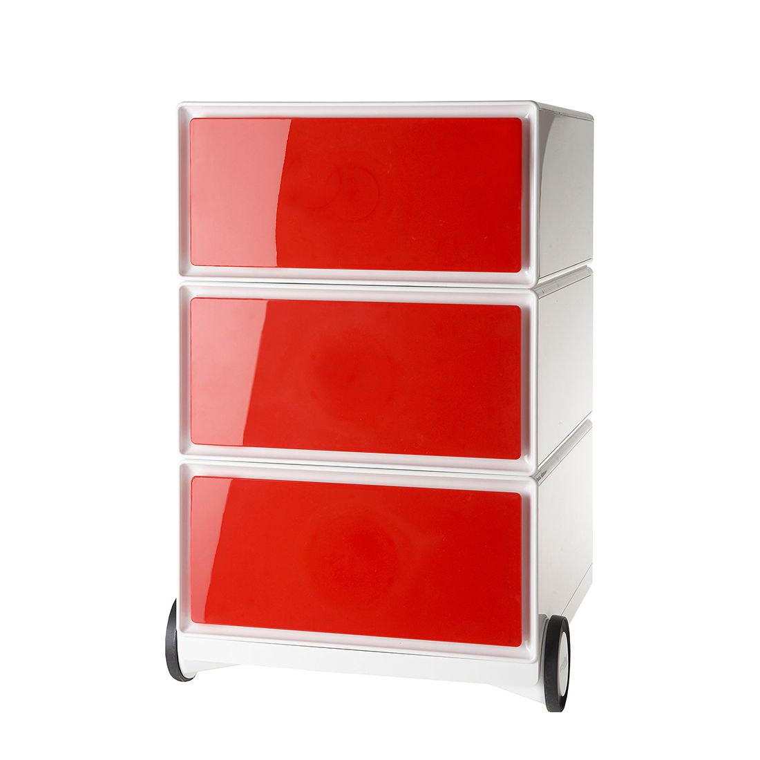 Rollende kast easyBox I - Wit/rood, easy Office und Paperflow