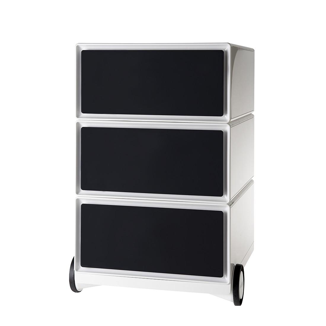 Rollende kast easyBox I - Wit/zwart, easy Office und Paperflow