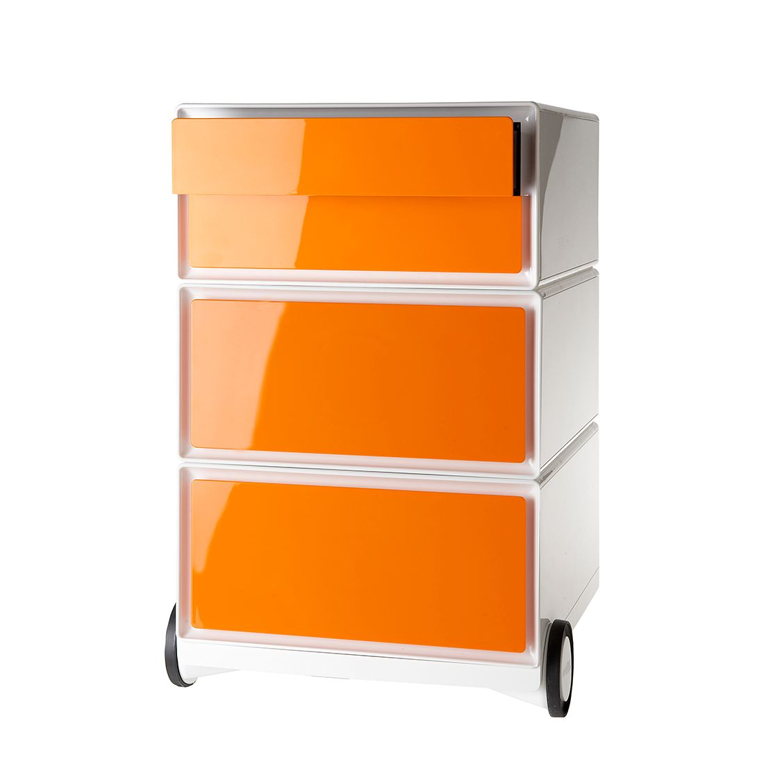 Rollcontainer easyBox II - Weiß / Orange, easy Office und Paperflow