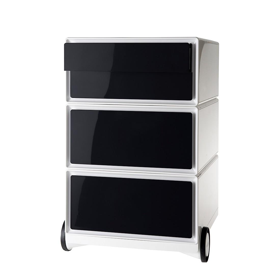 Rollcontainer easyBox II - Weiß / Schwarz, easy Office und Paperflow
