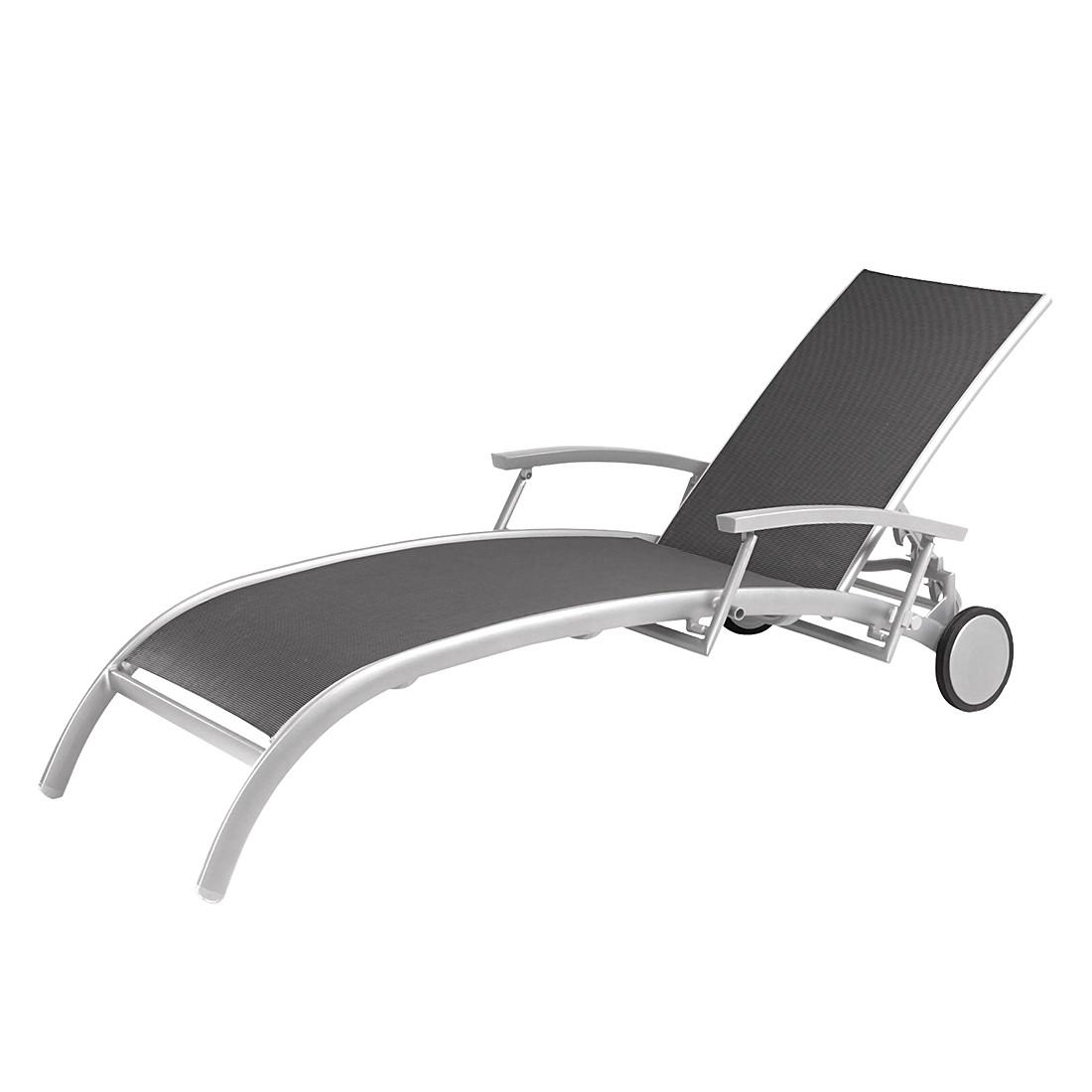 Rollliege Palermo - Aluminium/Ergotex - Silber/Anthrazit, Best Freizeitmöbel