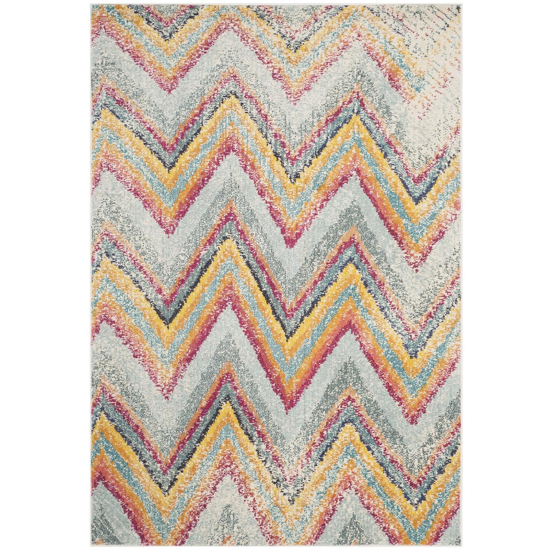 Tapijt Giulia - kunstvezels - mintkleurig/geel - 154x231cm, Safavieh
