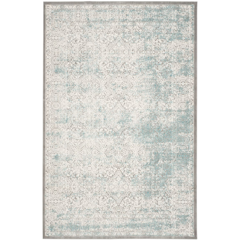 Tapijt Amala - kunstvezels - zandkleurig/turquoise - 121x170cm, Safavieh