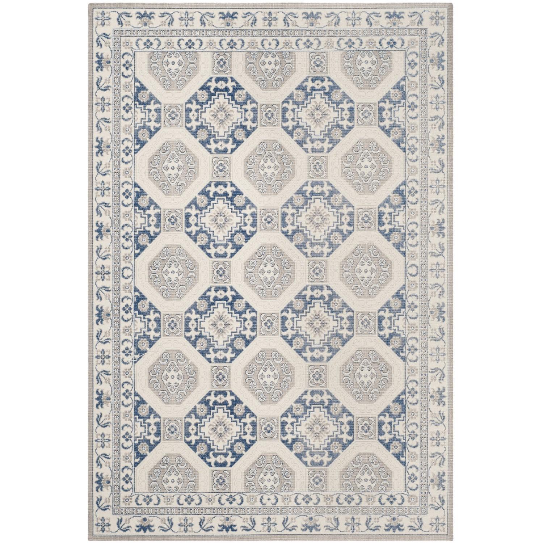 Tapijt Persis - mixweefsel - Beige/lichtblauw - 154x228cm, Safavieh