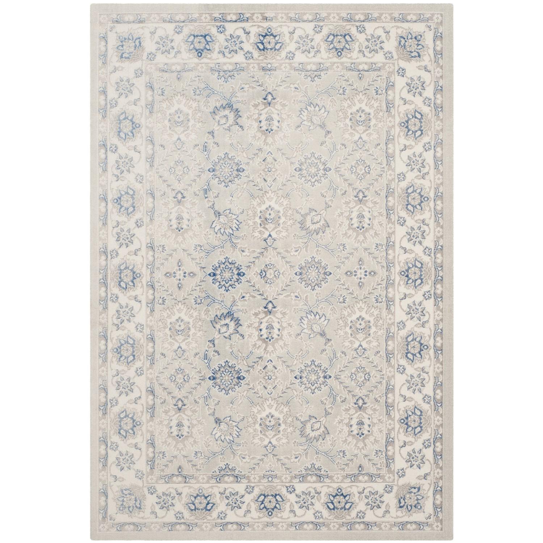 Tapijt Pachio - mixweefsel - beige/blauw - 121x182cm, Safavieh