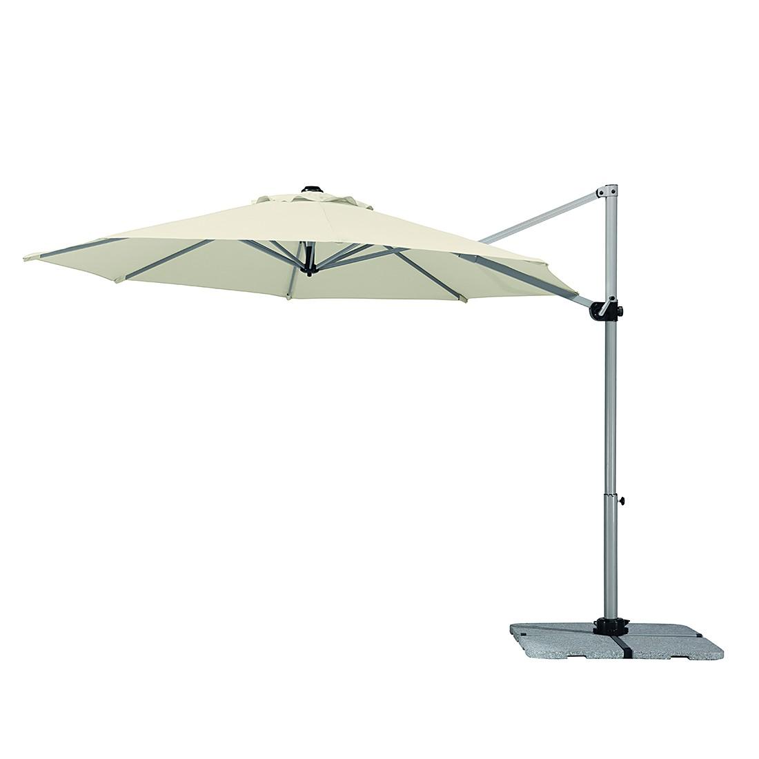 Samos 300 Sonnenschirm - Aluminium/Polyester - Silber/Natur, Schneider Schirme