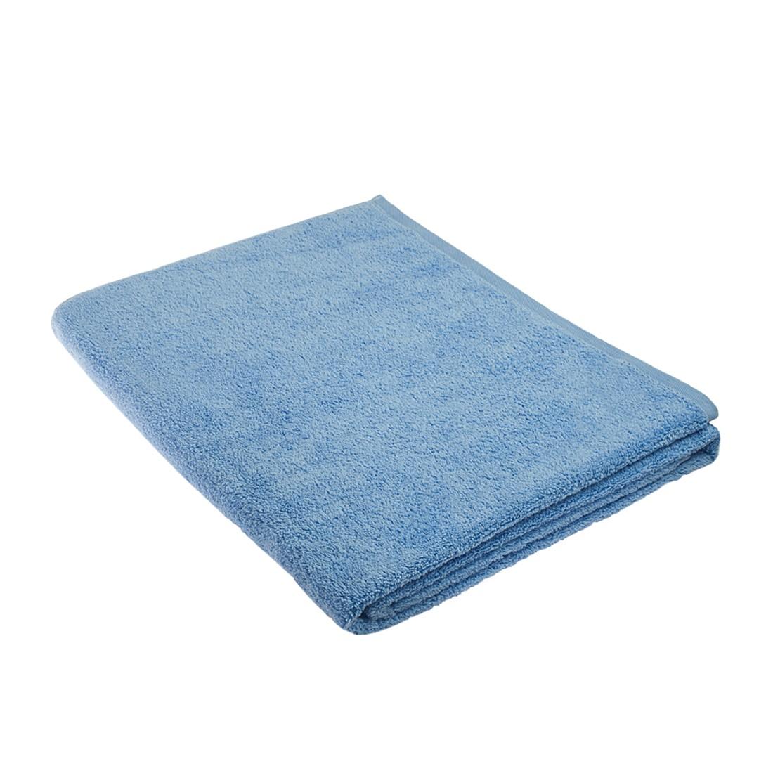 Home 24 - Serviette de sauna pure - 100 % coton - bleu clair, stilana