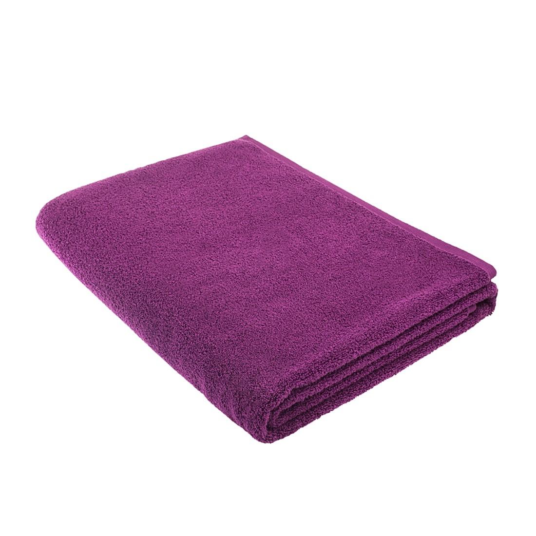 Sauna handdoek PURE - 100% katoen- paars, stilana