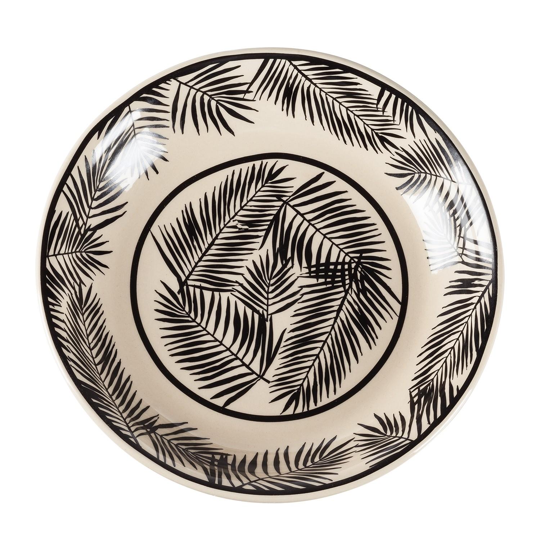 Schale Garons - Keramik - Schwarz / Weiß