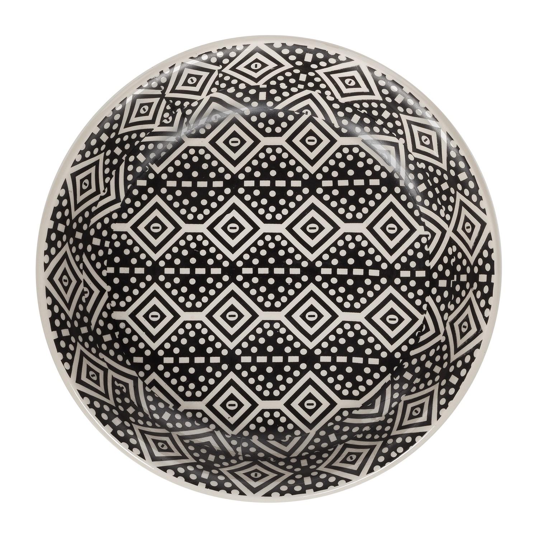 Schale Tarascon - Keramik - Schwarz / Weiß
