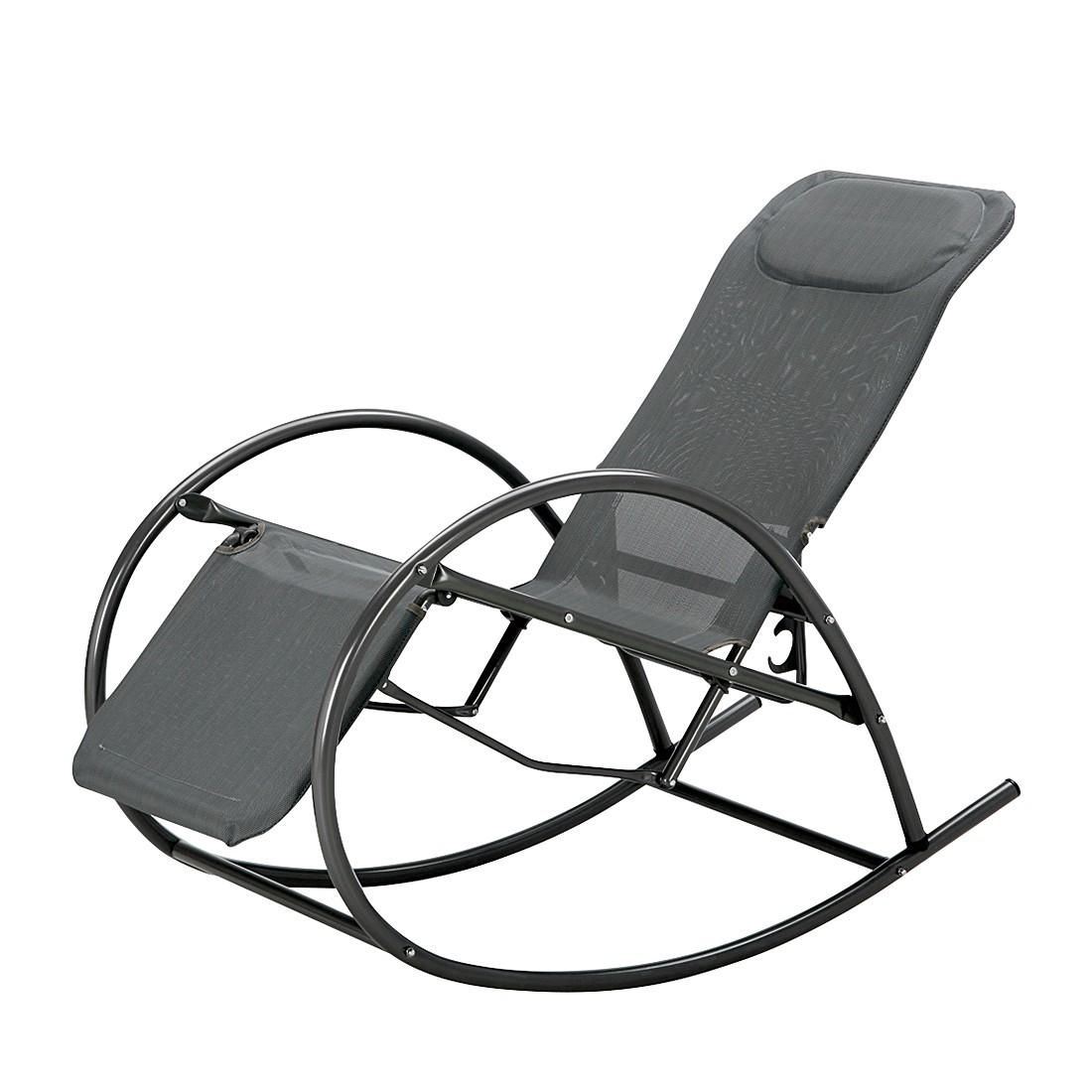 Schaukelstuhl Ancona - Stahlrohr/Ergotex Anthrazit, Best Freizeitmöbel