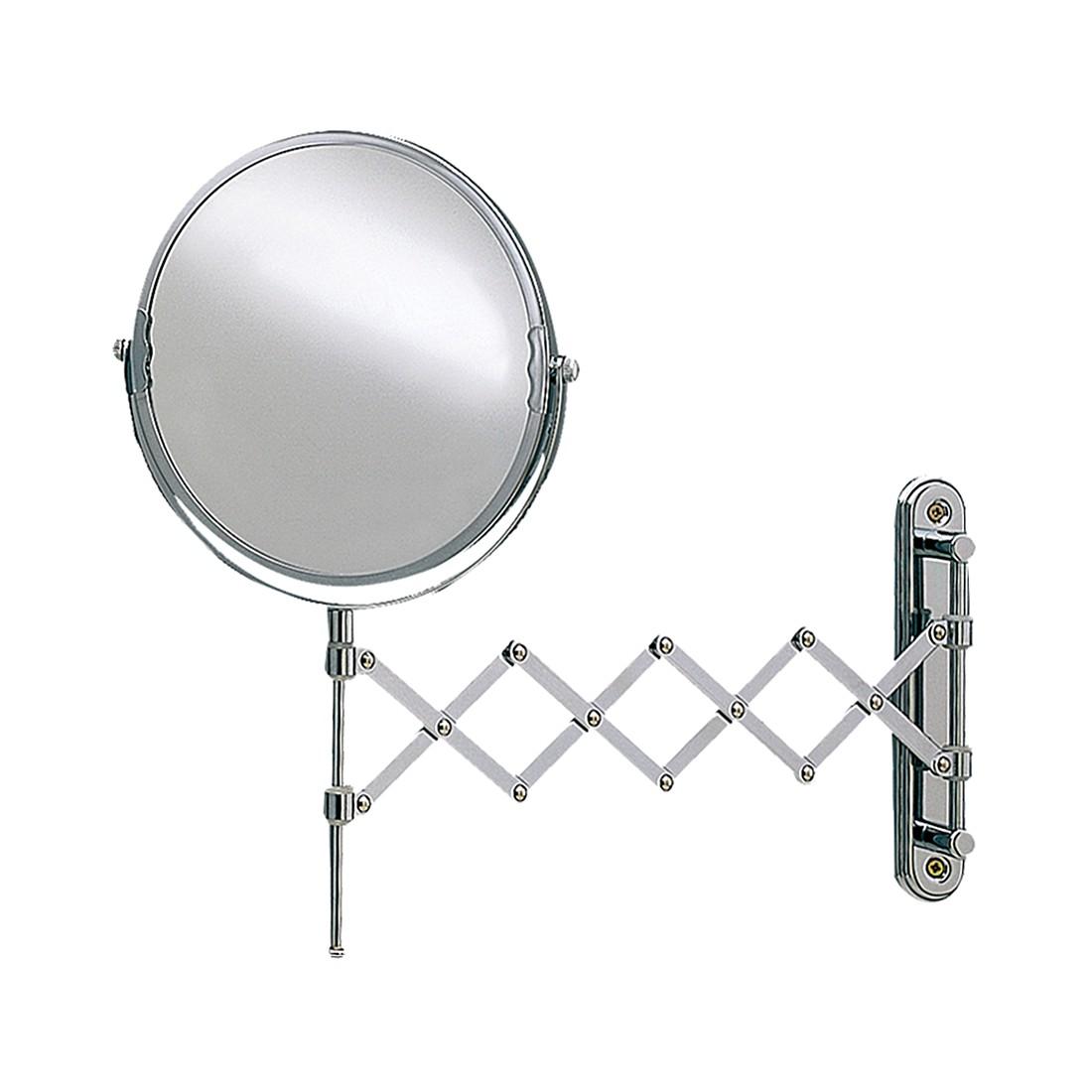 Miroir mural télescopique Franziska - Chrome Avec grossissement x5, Nicol Wohnausstattungen