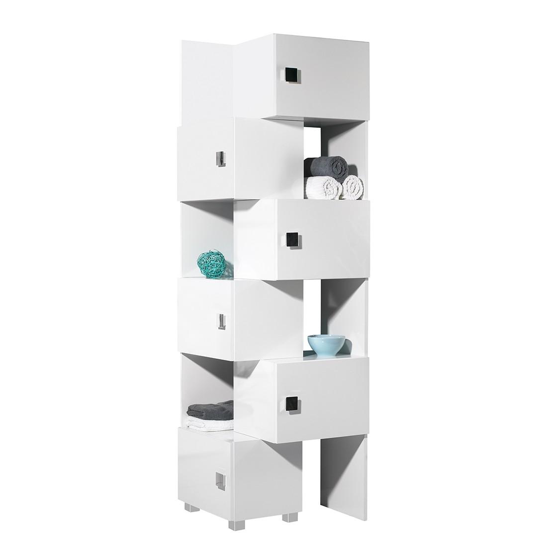 Mobiletto scomponibile Genf - 2 pezzi Bianco lucido / lucido/Bianco, Schildmeyer