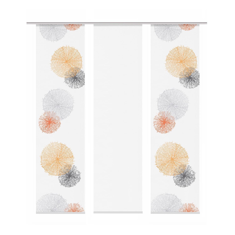 Schiebevorhang Scoppio (3er- Set) - Orange, Home Wohnideen