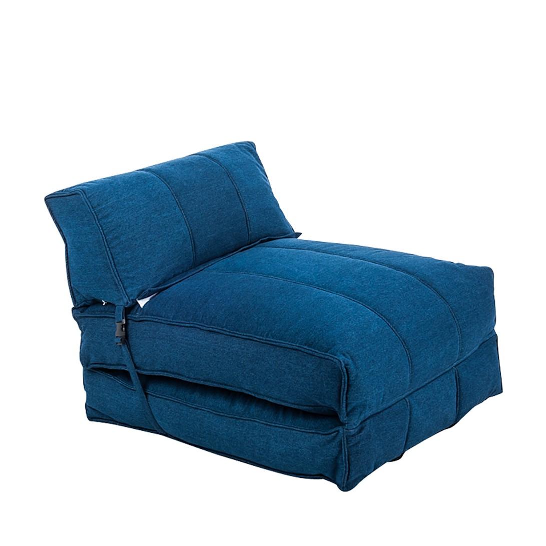 Schlafsessel Caneva - Stoff Blau, mooved