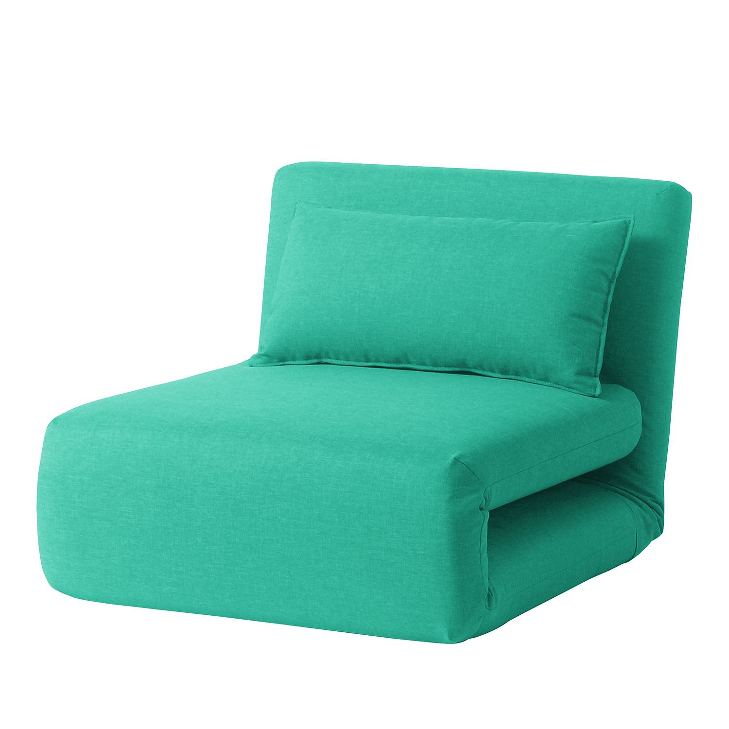 Fauteuil convertible Carmack I Tissu - Turquoise, Fredriks