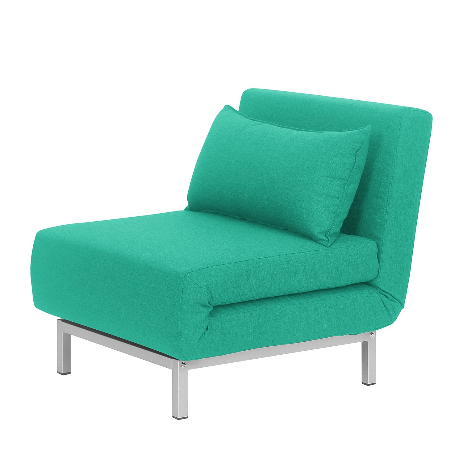 Fauteuil convertible Carmack II Tissu - Turquoise, Fredriks