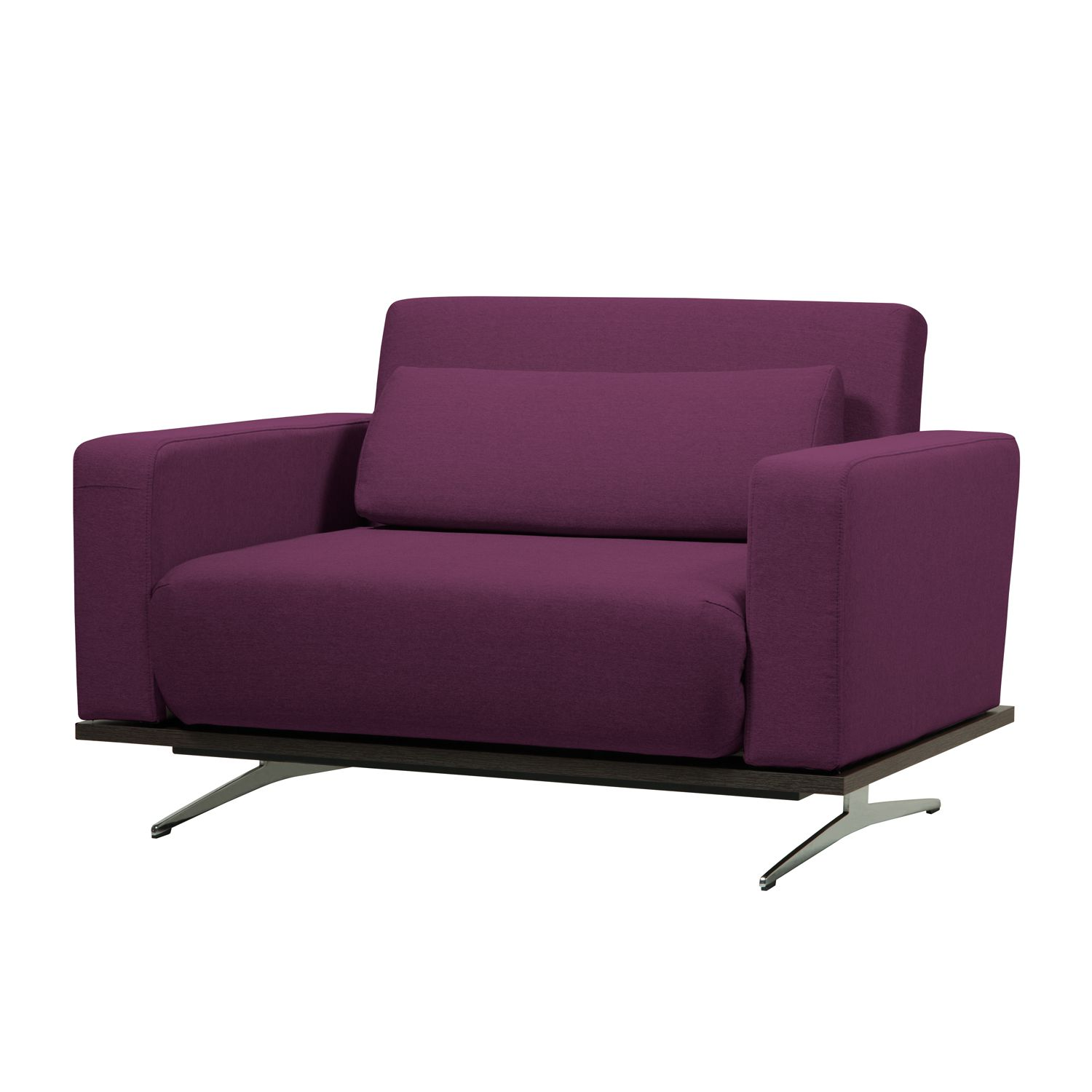 Schlafsessel Copperfield Plus I - Webstoff - Stoff Zahira Aubergine