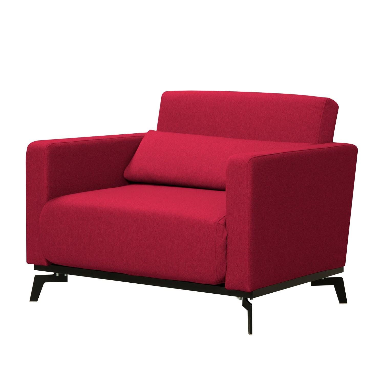 Schlafsessel Maven - Webstoff - Stoff Zahira Rot