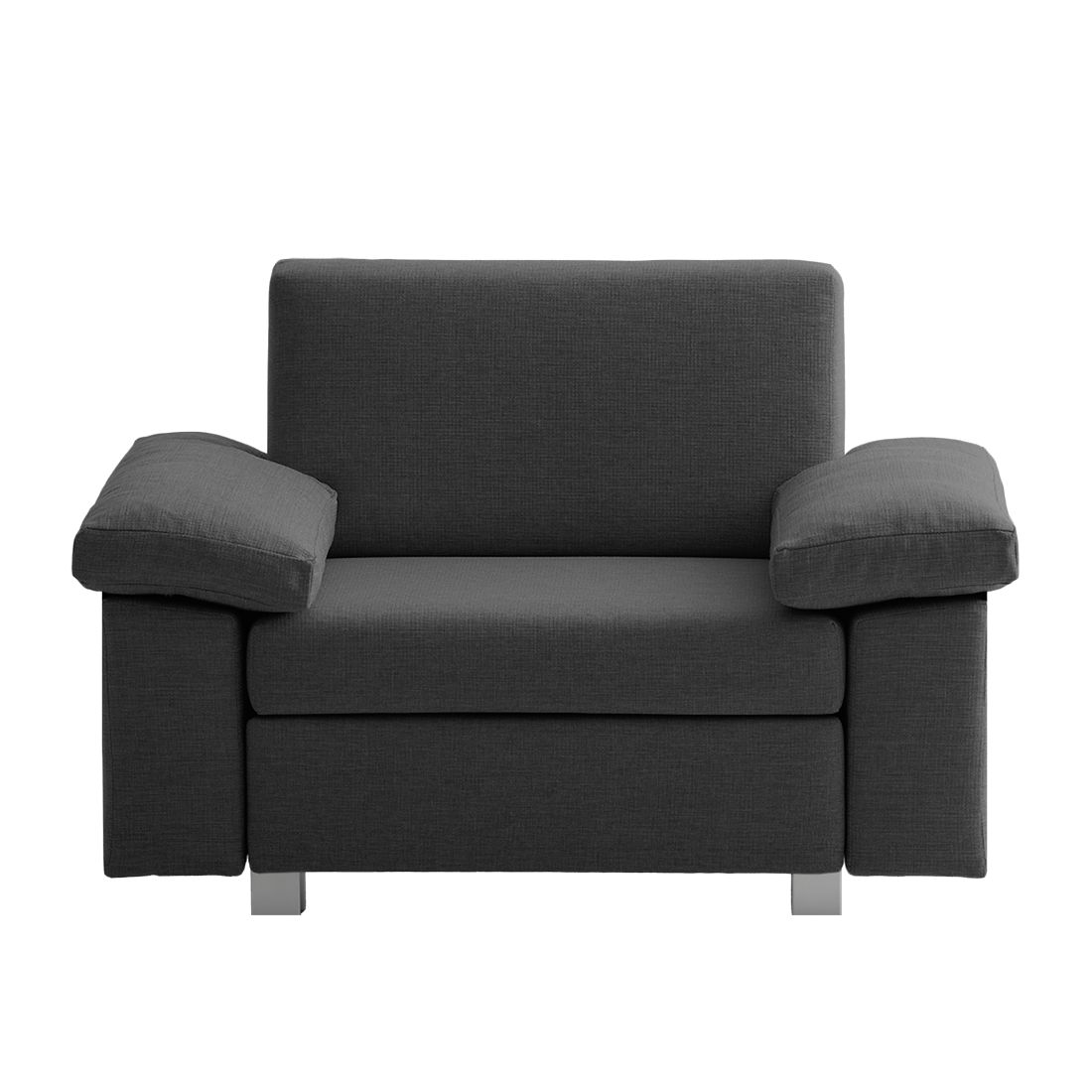 Fauteuil convertible Plaza - Tissu - Anthracite - Types d'accoudoir rabattable, chillout by Franz Fe