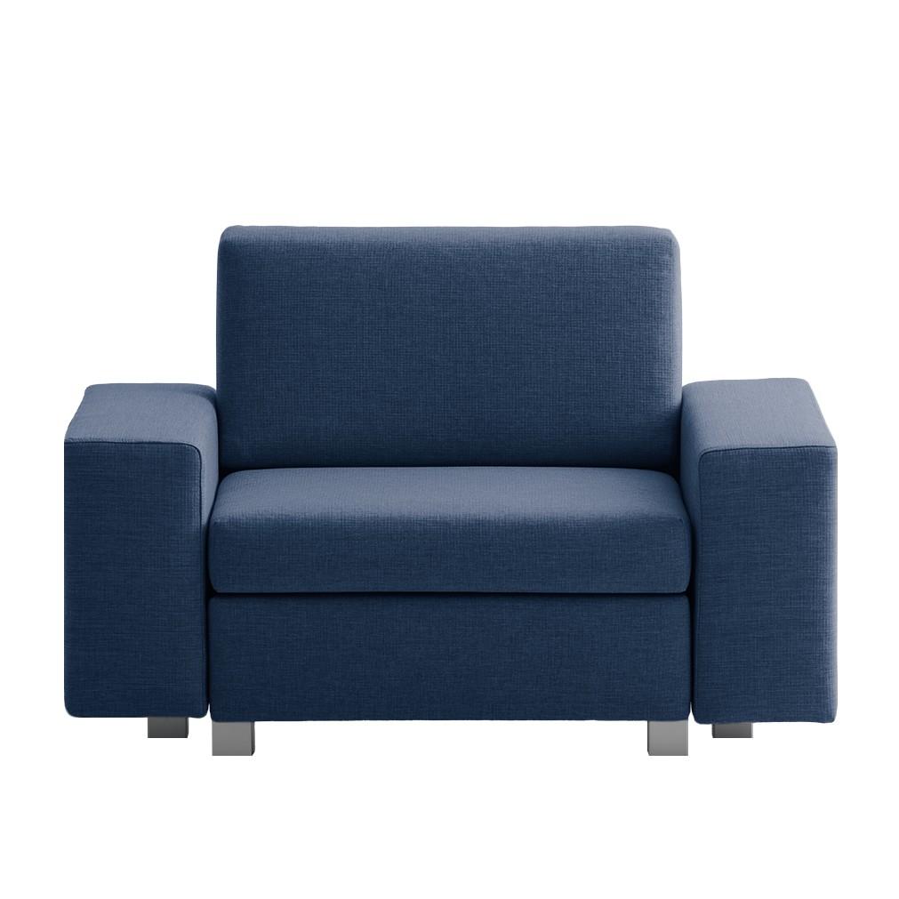 Home 24 - Fauteuil convertible plaza - tissu - bleu - types d´accoudoir droite, chillout by franz fertig