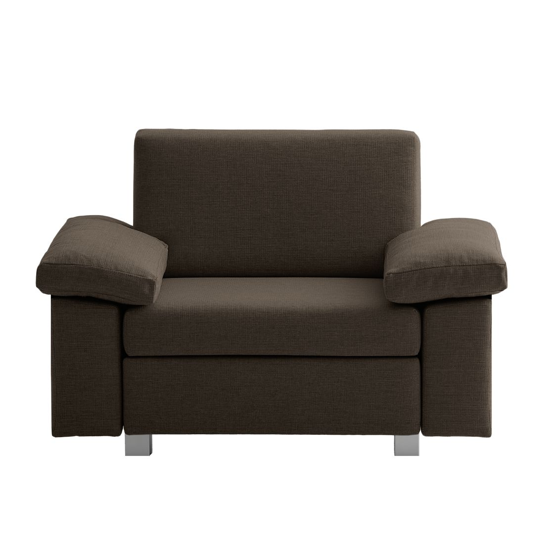 Fauteuil convertible Plaza - Tissu - Marron - Types d'accoudoir rabattable, chillout by Franz Fertig