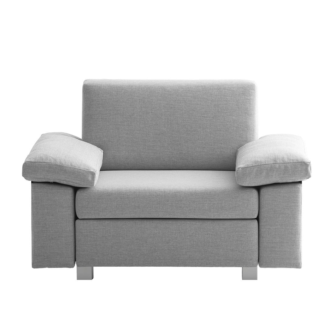 Fauteuil convertible Plaza - Tissu - Gris clair - Types d'accoudoir rabattable, chillout by Franz Fe