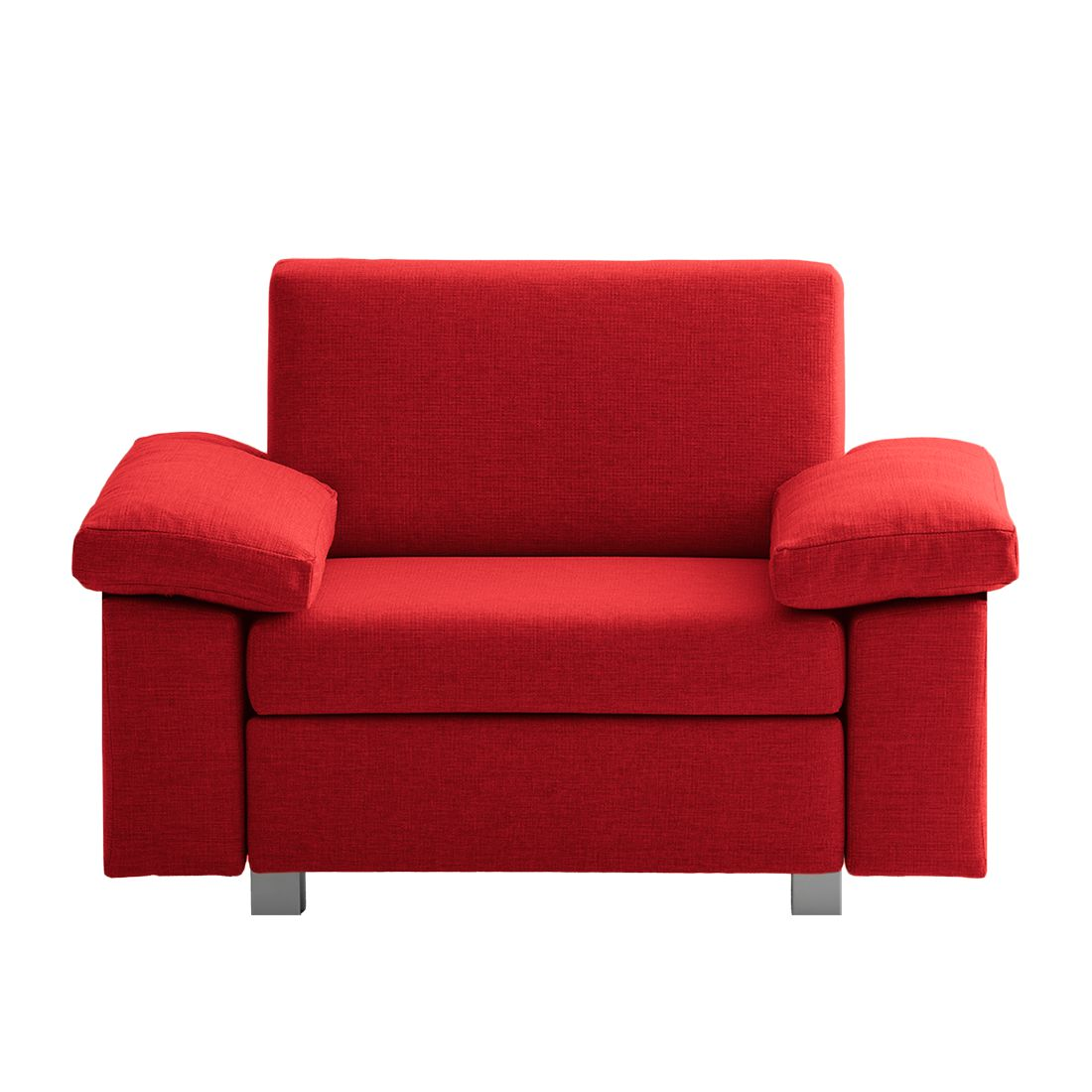 Fauteuil convertible Plaza - Tissu - Rouge - Types d'accoudoir rabattable, chillout by Franz Fertig
