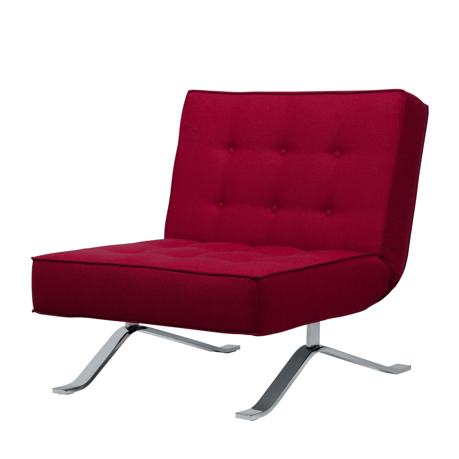 Schlafsessel Wave One Webstoff - Stoff Bora Rot
