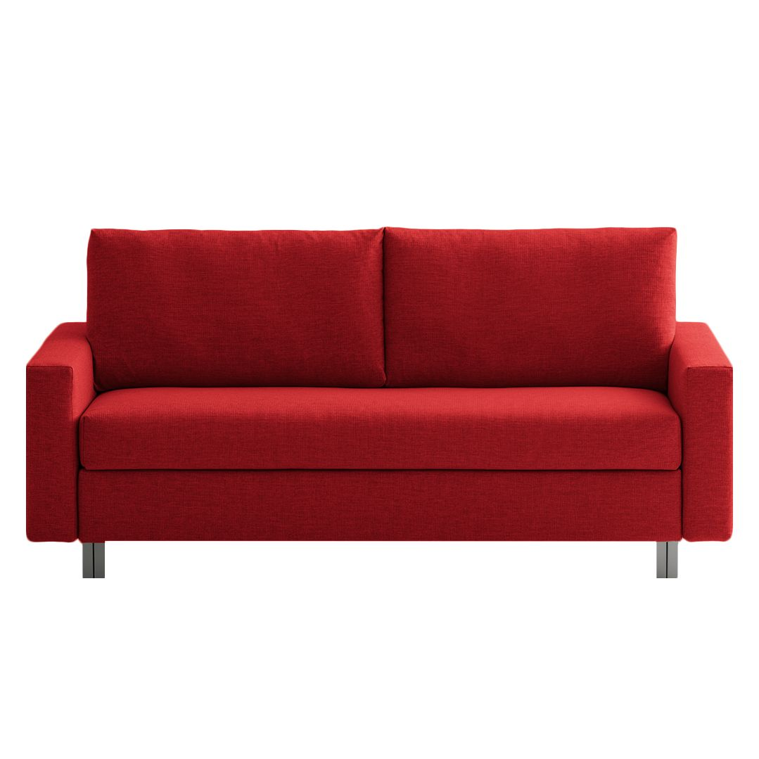 Schlafsofa aura webstoff rot 176 cm chillout by for Schlafsofa 90 cm