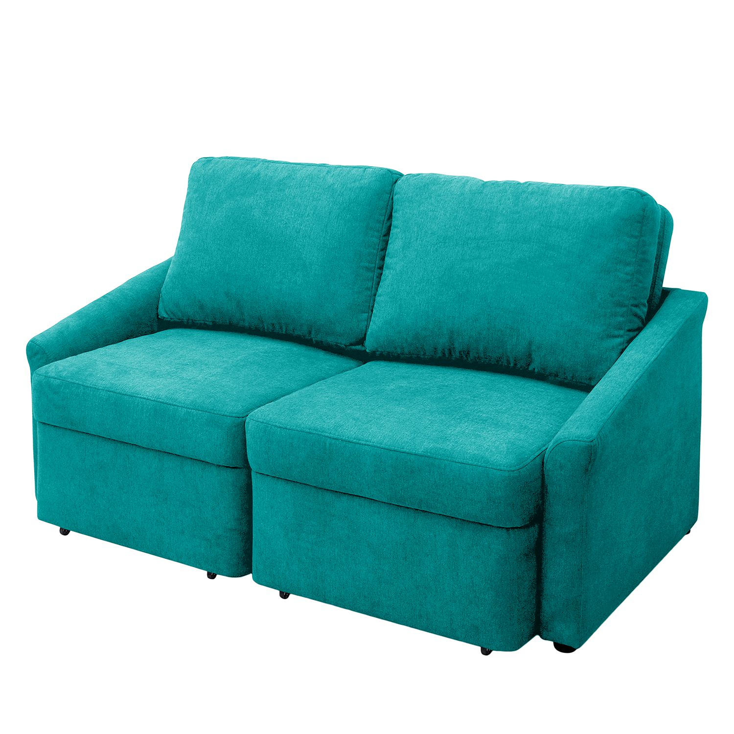 Canapé convertible Befasy Tissu - Turquoise, Fredriks