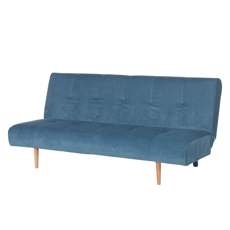 Canapé convertible Binas - Tissu - Bleu, Morteens