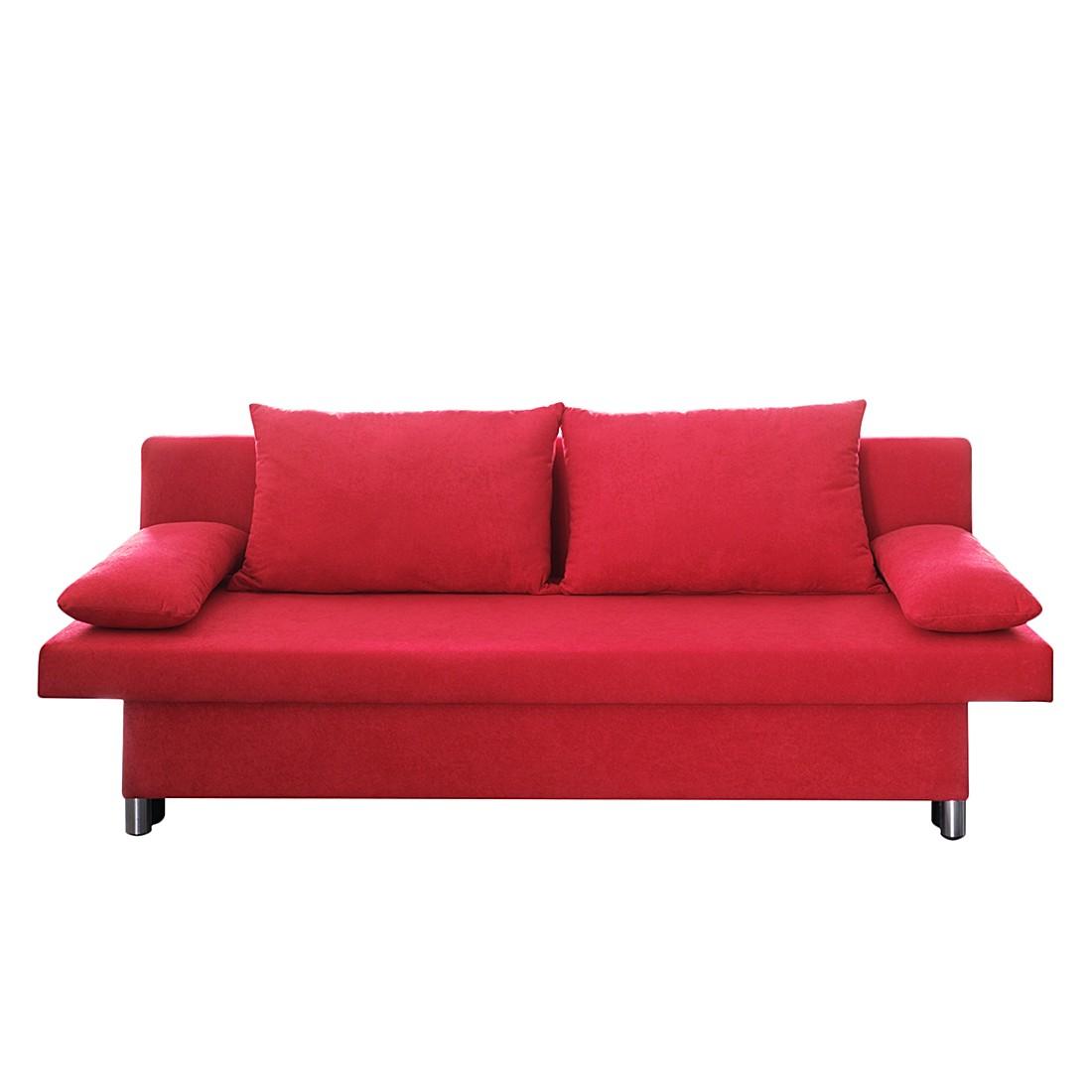 Canapé convertible Canto - Microfibre rouge, Home Design