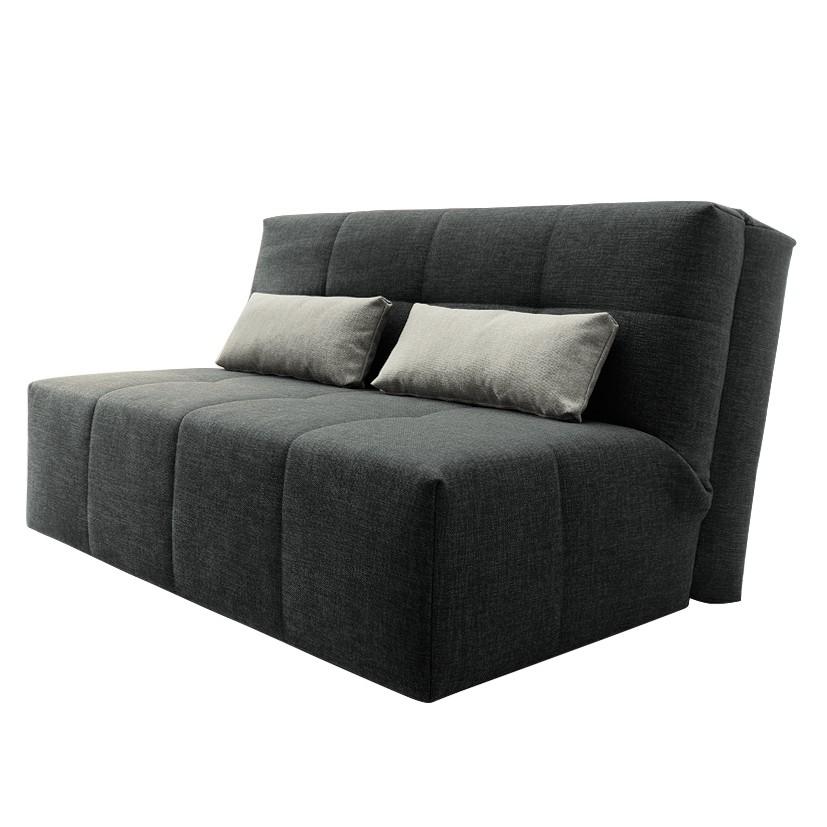 Schlafsofa Chiny Webstoff - Anthrazit / Grau, loftscape